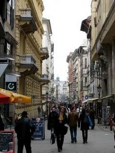 Váci utca Budapesten