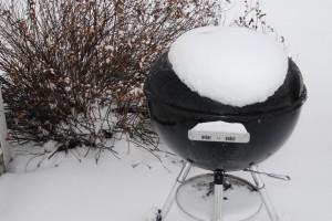 Kerti grill a hóban