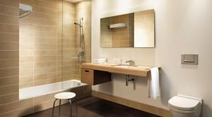 Fürdőszoba kádparavánnal